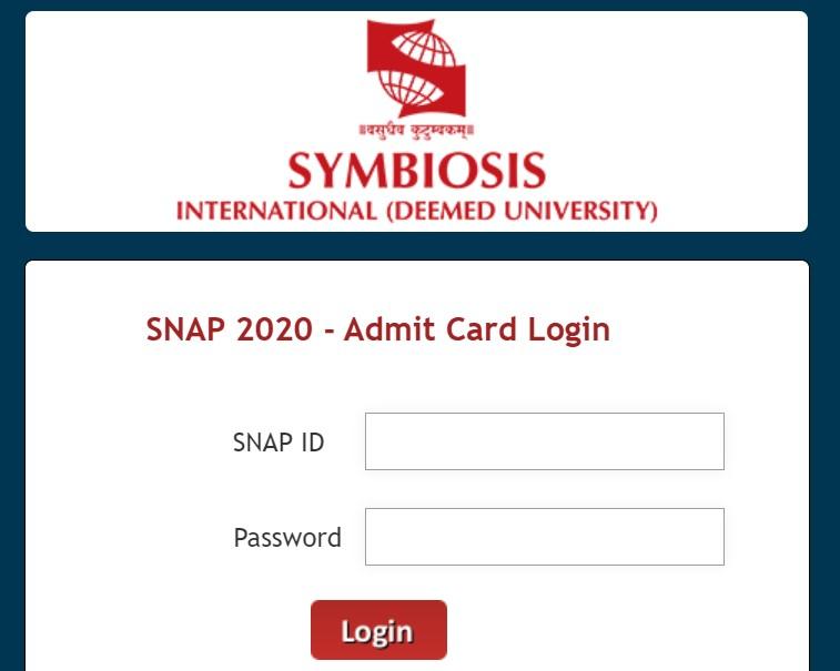 SNAP Admit Card 2020/2021
