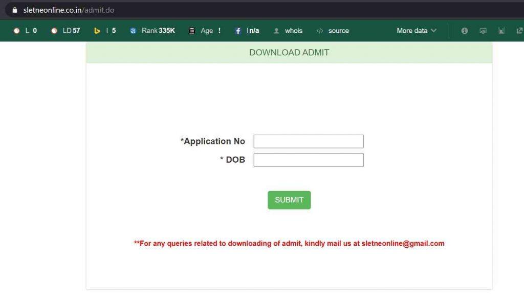 Assam SLET Admit Card 2021: