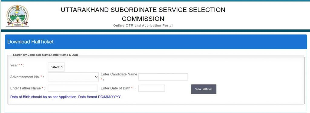 UKSSSC Stenographer Admit Card 2021