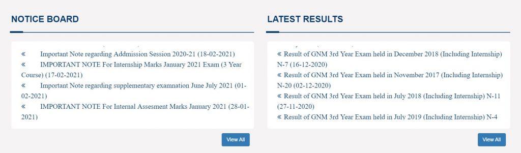 PNRC Online GNM ANM Result