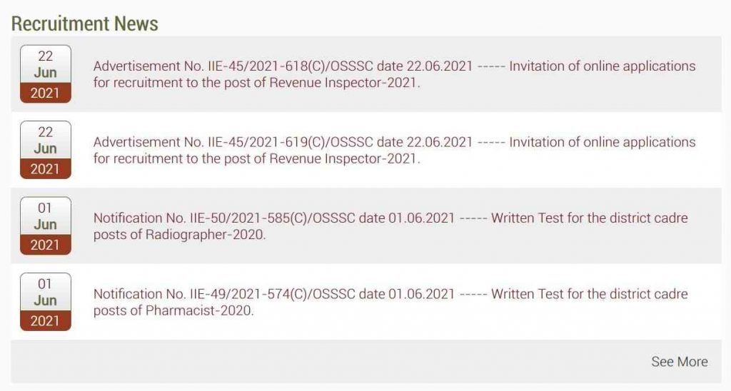 OSSSC Recruitment 2021