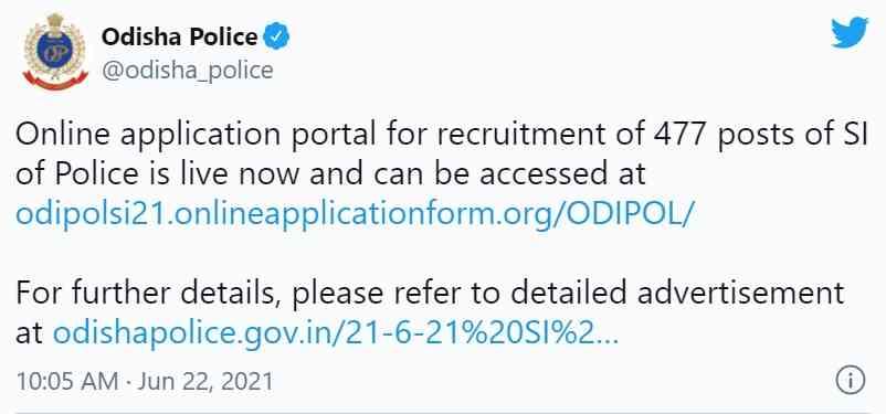 odisha police tweet
