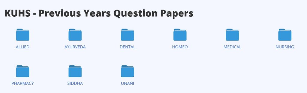 KUSH Coursewise Question Papers