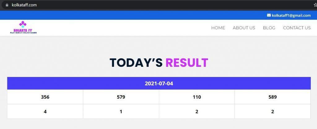 Kolkata FF Result Online