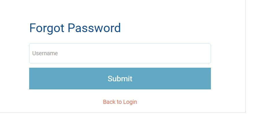Forgot Password of EMIS