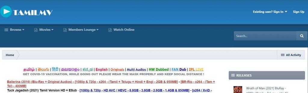 TamilMV Website